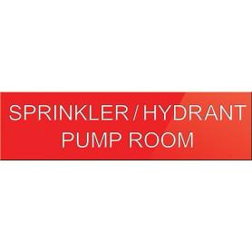 Sprinkler-Hydrant Pump Room