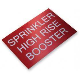 Traffolyte Sign - SPRINKLER HIGH RISE BOOSTER