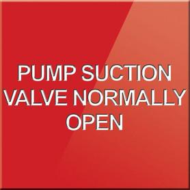 Pump Suction Valve Normally Open