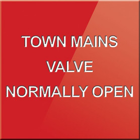 Town Mains Valve Normally Open