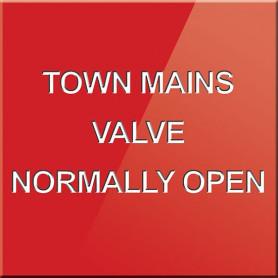 Town Mains Valve Normally Open