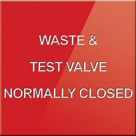 Waste & Test Valve Normally Closed