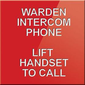Warden Intercom Point Lift Handset to Call