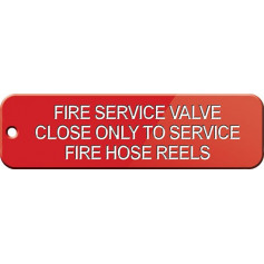 Fire Service Valve Close Only To Service Fire Hose Reels