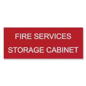 Traffolyte Sign - Fire Services Storage Cabinet RED