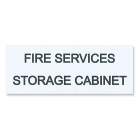Traffolyte Sign - Fire Services Storage Cabinet WHITE