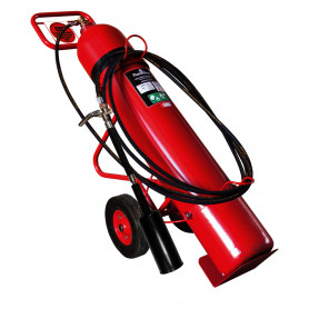 FLAMESTOP 45KG CO2 Mobile Extinguisher - Solid Rubber Wheel