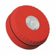 Ceiling Mount Visual Warning Device - Red Body with Red Lens
