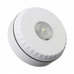 Ceiling Mount Visual Warning Device - White Body with Red Lens