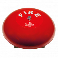 "8"" Red Fire Bell 200mm 24VDC"
