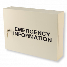 Emergency Information Cabinet - Milk White