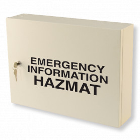 Emergency Information Hazmat Cabinet - Milk White