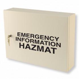 Emergency Information Hazmat Cabinet - Milk White