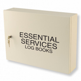 Essential Services Log Book Cabinet - Milk White