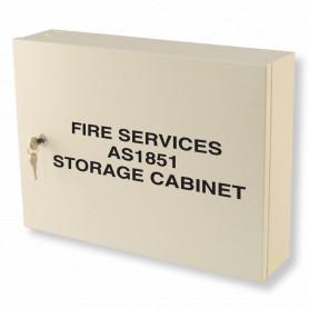 Fire Services AS1851 Maintenance Cabinet - Milk White
