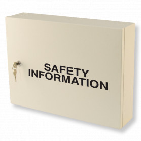 Safety Information Cabinet - Milk White