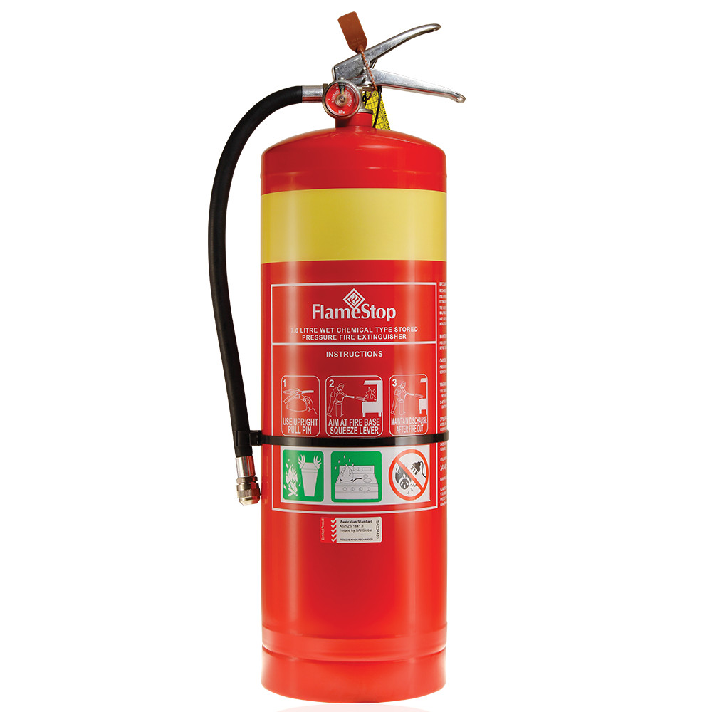 flamestop 70l wet chemical type portable fire extinguisher wet chemical fire extinguishers flamestop australia ABC Fire Extinguisher Label at bayanpartner.co