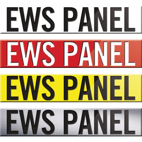 300 x 60mm EWS Panel Signs