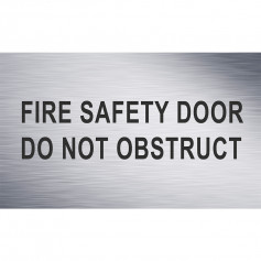 Fire Safety Door Do Not Obstruct