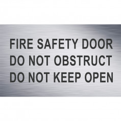 Traffolyte Sign - Fire Safety Door Do Not Obstruct Do Not Keep Open