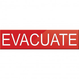 Evacuate Sign for VADs or VWDs