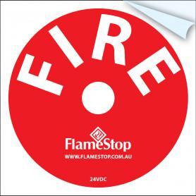 FlameStop Bell Sticker - Red