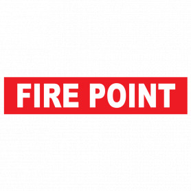 Fire Point (Words) Strip Sign