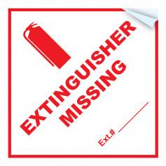 Extinguisher Missing Sticker