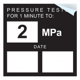 Pressure Test - 2 MPA Sticker
