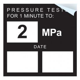 Pressure Test - 2 MPA Sticker