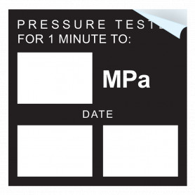Pressure Test Blank MPA Sticker - Write In Own MPA