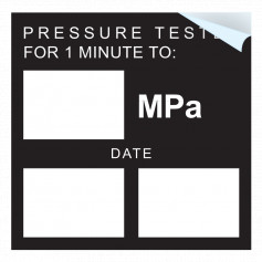 Pressure Test Blank MPA Sticker - Write In Own MPA