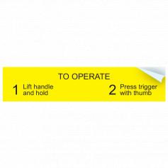 To Operate Sticker
