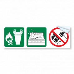 7.0L Pictograph Wet Chemical Sticker (47mm)