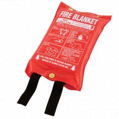 Medium 1.2m x 1.2m Fire Blanket - Soft Plastic Pouch