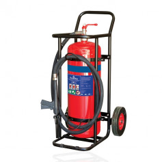 FLAMESTOP 30 LITRE Alcohol Resistant Mobile Extinguisher - Solid Rubber Wheel