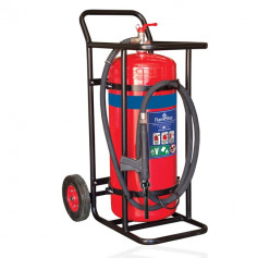FLAMESTOP 90L Alcohol Resistant Mobile Extinguisher - Solid Rubber Wheel
