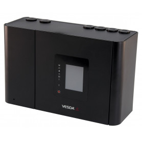 "VESDA-E VEP with 3.5"" Display, 4 Pipe Inlets, Plastic Enclosure"