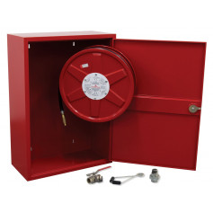 FLAMESTOP Hose Reel 36m x 19mm Swing Arm with Cabinet