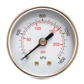 Hydrant Pressure Gauge Dry Rear Entry Gauge