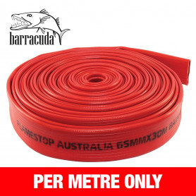 FlameStop Barracuda - 65mm x 1m Rubber Layflat Hose