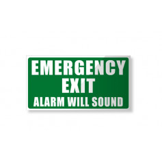 Emergency Exit - Alarm will sound