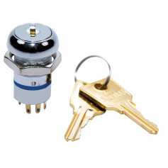 003 Key 3 Position Switch (Centre Remove) with 2 x Keys