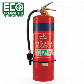 FlameStop 9.0L Fluorine Free & Alcohol Resistant Foam Type Portable Fire Extinguisher