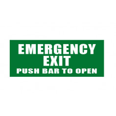 Emergency Exit - Push bar to open