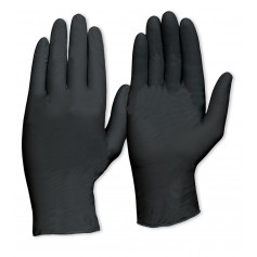 Nitrile Disposable Glove - Black Heavy Duty Powder Free