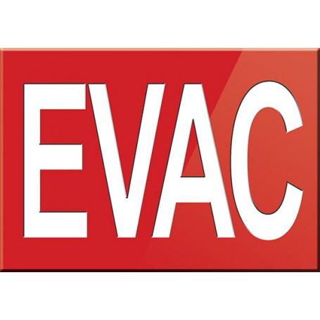 EVAC sign
