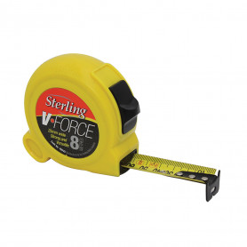 8M x 25mm V-Force Metric Tape Measure