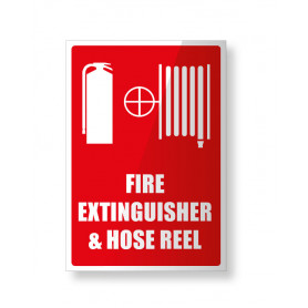 Fire Extinguisher & Hose Reel - Small Sign