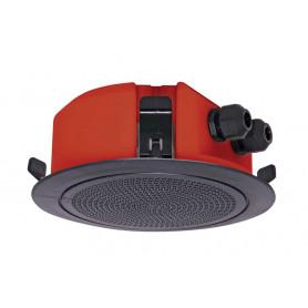 100mm 5W Flush Mount Low Profile Speaker - Black Plastic Grill